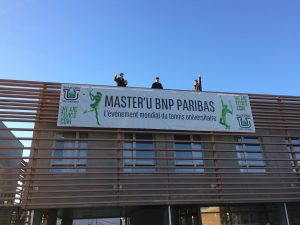 The Flanders tennis league is adorned with the colors of the Master'U BNP Paribas