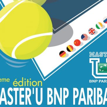 A Gobelins student signs the 12th Master'U BNP Paribas poster.